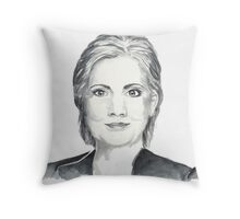 Hillary Clinton 2016 - Democratic Primary Throw Pillow