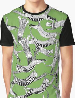 cat party green Graphic T-Shirt