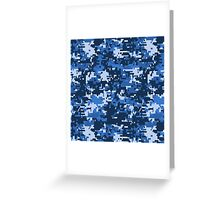 Pixel camouflage Greeting Card