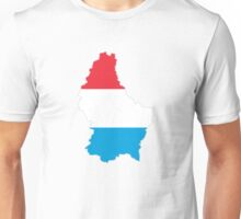 Luxembourg Map And Flag Unisex T-Shirt