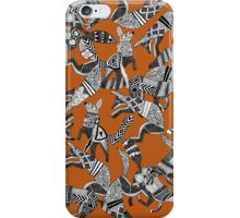 woodland fox party orange iPhone Case/Skin