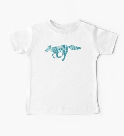 woodland fox party teal blue Baby Tee