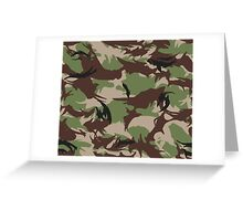 Pixel camouflage green Greeting Card