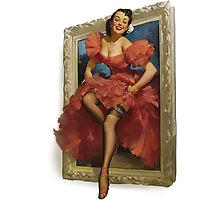 Pin-up Mirror Photographic Print