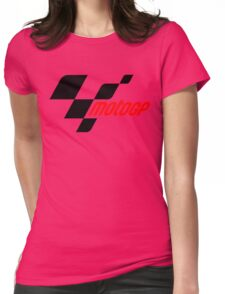 motogp logo black red 2016 Womens Fitted T-Shirt