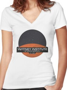Mark Watney Institute - The Martian Women's Fitted V-Neck T-Shirt