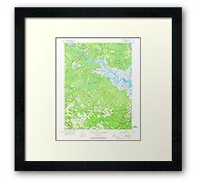 USGS TOPO Map New Jersey NJ Green Bank 254425 1956 24000 Framed Print