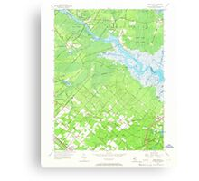 USGS TOPO Map New Jersey NJ Green Bank 254425 1956 24000 Canvas Print