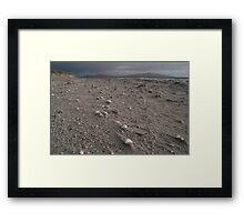Beach landscape from the Isle of Berneray Outer Hebrides Scotland Framed Print