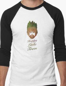 Happy Little Watercolor Trees Men's Baseball ¾ T-Shirt