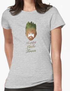 Happy Little Watercolor Trees Womens Fitted T-Shirt