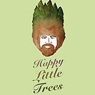Happy Little Watercolor Trees by kellymichelle