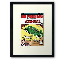 One Punch Man Action Comics Framed Print