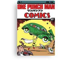 One Punch Man Action Comics Canvas Print