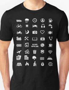Iconspeak - Travel Icon for World Travellers Unisex T-Shirt