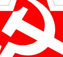 Red Star, Hammer and sickle, in five leg star. Communism, Russia Sticker