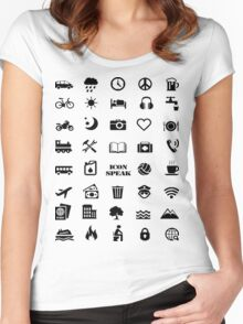 Iconspeak - Travel Icon for World Travellers 1 Women's Fitted Scoop T-Shirt