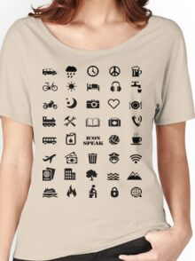Iconspeak - Travel Icon for World Travellers 1 Women's Relaxed Fit T-Shirt
