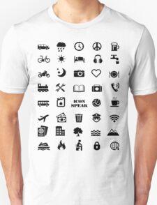 Iconspeak - Travel Icon for World Travellers 1 T-Shirt
