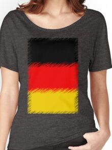 German Flag Distressed Women's Relaxed Fit T-Shirt