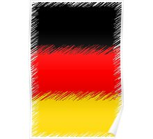German Flag Distressed Poster