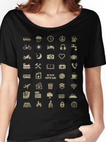 Iconspeak - Travel Icon for World Travellers 2 Women's Relaxed Fit T-Shirt