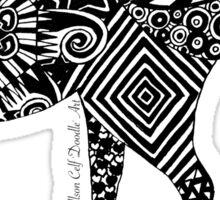 Elephantine Doodles BW Sticker