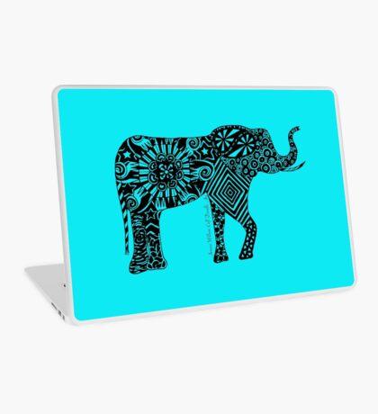 Elephantine Doodles BW Laptop Skin