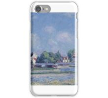 Boats on Repair at Saint-Mammes, iPhone Case/Skin