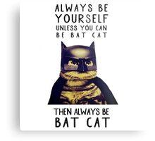 Cat meow super heroes Metal Print