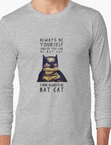 Cat meow super heroes Long Sleeve T-Shirt