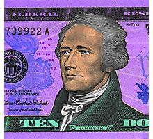 ALEXANDER HAMILTON-TEN DOLLAR BILL.jpg Photographic Print