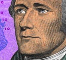 ALEXANDER HAMILTON-TEN DOLLAR BILL.jpg Sticker