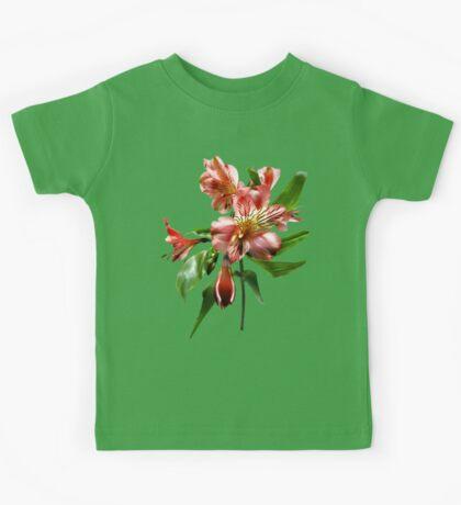 Pink Asiatic Lilies Closeup Kids Tee