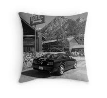 Mountain Motoring Throw Pillow