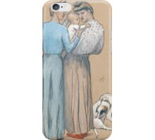 Julio GONZALEZ (Barcelona - Arceuil ) ,Women and Child with a Dog (Maternité au chien) iPhone Case/Skin