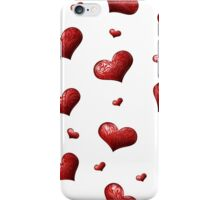 Valentine's Day Seamless Pattern with Hearts.  iPhone Case/Skin