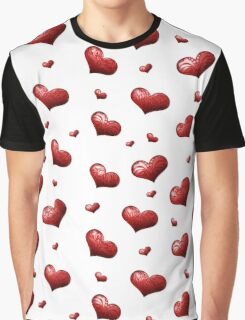 Valentine's Day Seamless Pattern with Hearts.  Graphic T-Shirt