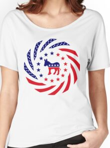 Democratic Murican Patriot Flag Series Women's Relaxed Fit T-Shirt