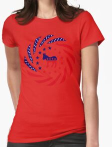 Democratic Murican Patriot Flag Series Womens Fitted T-Shirt