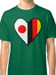 Japan and Germany Heart Classic T-Shirt