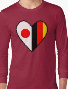 Japan and Germany Heart Long Sleeve T-Shirt