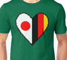 Japan and Germany Heart Unisex T-Shirt