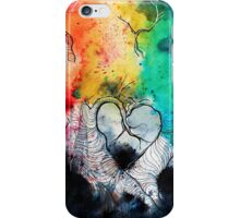 Rainbow Heart trees iPhone Case/Skin