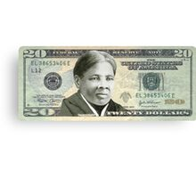 Harriet Tubman Twenty Dollar Bill Canvas Print
