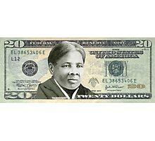 Harriet Tubman Twenty Dollar Bill Photographic Print
