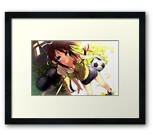 Football Girl Framed Print