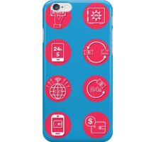 Internet Banking Icons Set in flat style iPhone Case/Skin
