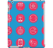Internet Banking Icons Set in flat style iPad Case/Skin