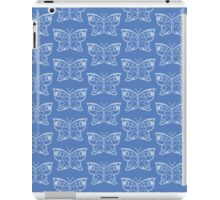 abstract butterfly blue2 iPad Case/Skin